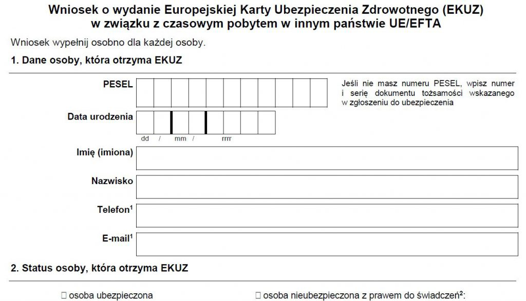EKUZ ? Europejska Karta Ubezpieczenia Zdrowotnego