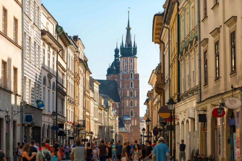 kraków na weekend - Ulica Floriańska w Krakowie