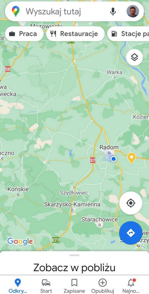 aplikacje dla podróżników - mapy google