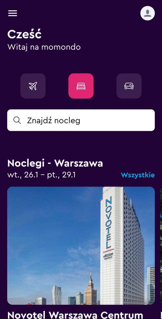 aplikacje dla podróżników - momondo