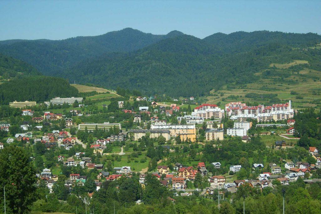 Pieniny - widok na Szczawnicę z Palenicy