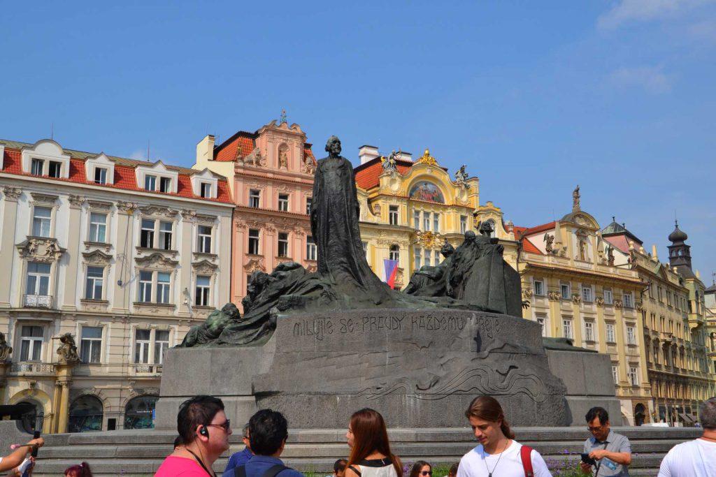 Praga - pomnik Jana Husa
