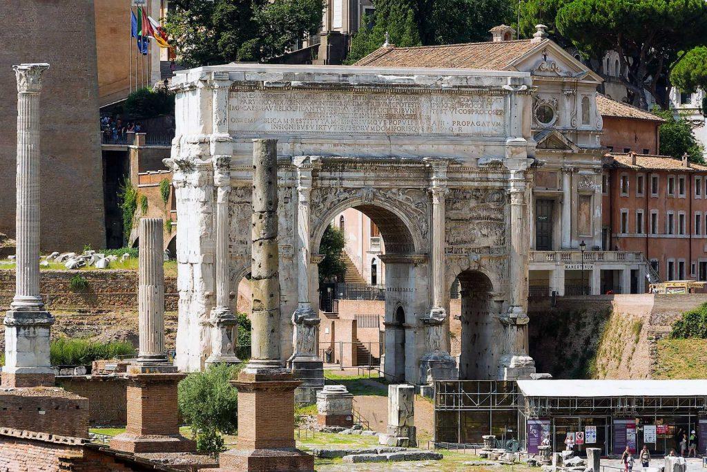 Łuk Septymiusza Sewera, Forum Romanum, Rzym