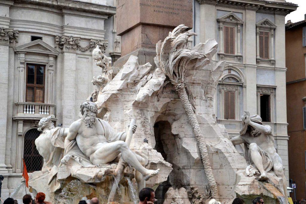 Włochy - Fontanna Czterech Rzek w Rzymie